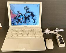 "Apple iBook G4 12"" 60GB 1.33GHz 512MB RAM AirPort WiFi Good Battery Cord Mouse"
