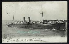 More details for 1907 p&o ss india peninsular and oriental steam navigation company postcard c641