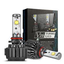 2X H3 LED Headlights Bulbs Turbo Conversion Kit 80W 6000K 9600LM V16 IP68 Headli