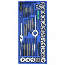 SAE Tap and Die | 40pc Set Standard Tapping Threading Chasing Storage Case