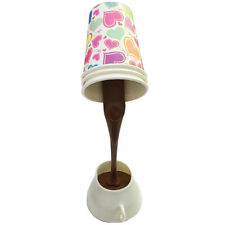 Creative LED Romantic Pour Coffee Cup Table Lamp Home USB Battery Night Light