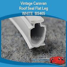 Caravan Pop Top Roof Seal Rubber Flat Leg WHITE BS405