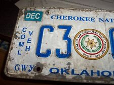 COMMERCIAL CAR  TAG  OKLA CHEROKEE NATION INDIAN RATROD CHEVY. FORD BBC LOWRIDER