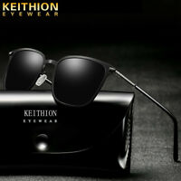 KEITHION Square Frame Mens Polarized Sunglasses Driving Designer Retro Eyewear