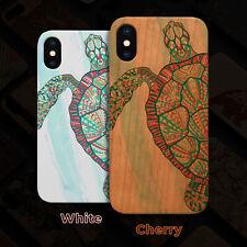 Turtle Wood Case iPhone 13/12/11/11 Pro/Max/Mini, X/XR/XS Max