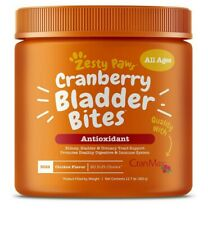 New listing Cranberry Bladder Bites for Dogs Antioxidant All Ages Chicken Flvr 90 Soft Chews