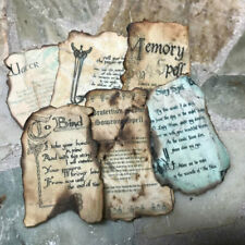 SPELL PAGES LOT Haunted Halloween Dollhouse Miniature Hand Crafted Artisan