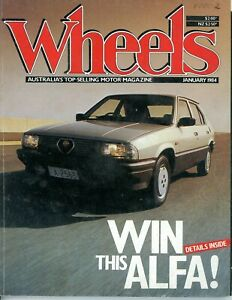 Wheels Magazine - January 1984 - Good condition for age - lots of good content