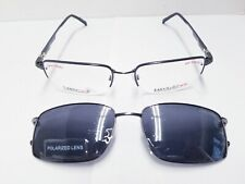 Easytwist Ct 214 57-19-145 Grey/Silver Men's Eyeglass frame Polarized Clip On