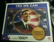 "BARACK OBAMA COMMEMORATIVE ""YES WE CAN"" 1000 PIECE JIGSAW PUZZLE  AGES 12+"