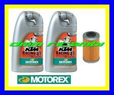 Kit Tagliando KTM 250 SX-F 07>08 Filtro Olio MOTOREX RACING 20W60 SXF 2007 2008