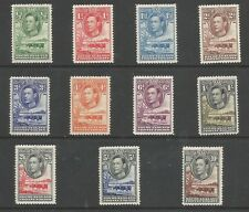 BECHUANALAND SG118-28 THE 1938 GVI SET OF 11 FRESH MOUNTED MINT C.£110