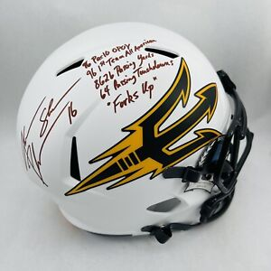 JAKE PLUMMER ARIZONA STATE SUN DEVILS SIGNED LUNAR ECLIPSE SPEED FS HELMET