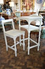 Charming Vintage Shabby Chic Telephone Table and Chair 1940's Cute Desk