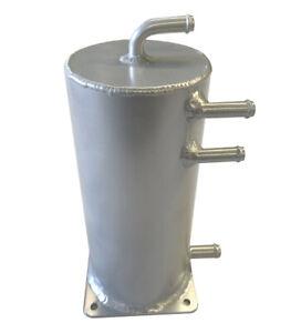 Aluminum 1.5L Performance High quality Base Mount Fuel Swirl Pot Overflow Silver