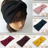 Women Yoga Cotton Turban Twist Knot Head Wrap Headband Twisted Knotted Hair Band
