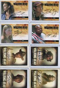 The Walking Dead Season 1 2 3 4 - Autograph & Wardrobe Relic Card Selection