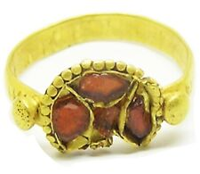 6th century A.D. Anglo Saxon period Frankish cloisonne gold finger ring RARE