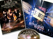 Lady Antebellum: Own the Night 2012 World Tour DVD,NEW! FREE SHIP! LIVE CONCERT