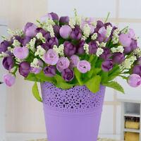 15 Heads Silk Flower Rose Flower Home Bridal Bouquet Wedding Party  Home Decor