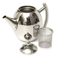 1000ML Stainless Steel Teapot Tea Pot With Infuser Coffee Tea Leaf Filter JS