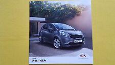Kia Venga 1 Air 2 3 4 paper brochure car sales catalogue October 2016 MINT