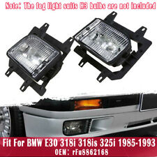 Pair For BMW E30 318i 318is 325i 1985-1993 Front Bumper Driving Fog Light Lamp