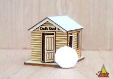 72nd Quarter Scale Dollhouse laser cut wood kit model Dads Shed Garden Miniature
