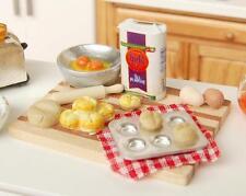 1:12 Doll Haus Miniatur Essen Eier Milch Brot Set Lebensmittel Küche