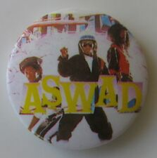 ASWAD VINTAGE METAL BUTTON BADGE FROM THE 1980's REGGAE POP