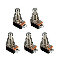 5 X Electric Guitar Effects Pedal Box Momentary Push Button Stomp Foot Switch