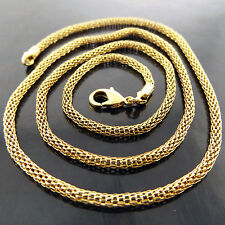 NECKLACE PENDANT CHAIN GENUINE REAL 18K YELLOW G/F GOLD ANTIQUE LINK DESIGN