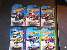 hot wheels lot of 6 1955 chevy bel air gassers