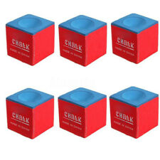 2pcs Cubes Billiard Table Chalk Pool Snooker Cue Tip Blue 2.1 x 2.1 x 2.1cm