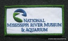 """NATIONAL MISSISSIPPI RIVER MUSEUM EMBROIDERED SEW ON PATCH IOWA 4"""" x 2"""""""