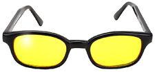 véritables lunettes soleil KD'S yellow 20112 - s'adapte sous casque moto bikers