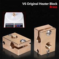 High Temperature V6 Heater Block Brass For E3D V6 Copper Hotend Nozzle Titan