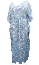 Phool Pale FLORAL Printed Drawcord Kaftan Dress PLUS SIZE to fit 20 22 24 26