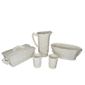 5 Piece Set of Traditional Americana by Arnart Pitcher Cups Serving Dish Covered