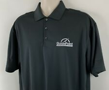 Nike Golf Dri-Fit Men's L Dark Gray Polo Shirt, GuidePoint Security Embroidered
