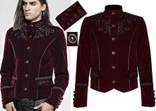 Embroidered velvet jacket blazer gothic dandy baroque stylish PunkRave Men Red