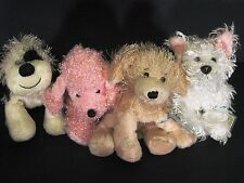 Webkinz Dogs Lot of 4 B&W Cheeky Dog Pink Poodle Golden Retriever White Terrier