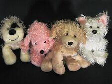 Webkinz 4 Dog Lot w/ codes Cheeky Dog Pink Poodle Golden Retriever White Terrier