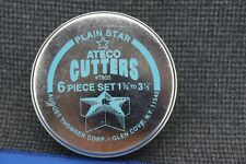 """New listing B7) Ateco Set of 6 Star Cutters #7805 in Tin Box August Thomsen 1 3/4"""" to 3 1/2"""""""