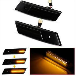 For BMW 3 5 7 Series E36 E34 E32 Sequential LED Side Marker Blinker Lights 2Pcs