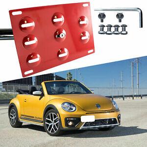 Tow Hook License Plate Bumper Mount Bracket Relocator Kit for VW Beetle 2012-18