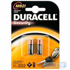 2 x Duracell MN21 Batteries * EXPIRY DATE: 2022 * LR23, 23A, 23AE, L1028, LRV08
