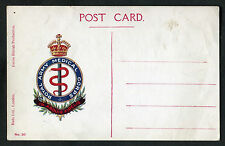 C1910 Card: Illustrated: Royal Army Medical Corps: Crest/Insignia