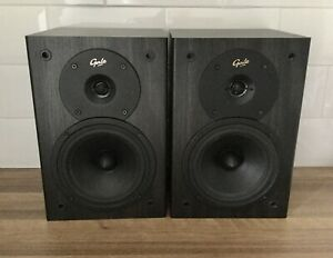PAIR GALE SILVER MONITOR SPEAKERS. BI WIREABLE