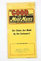 Moorman's Feed Farm Notebook Pocket Ledger 1950s Booklet vintage Hog Cattle Pigs